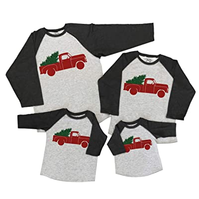 7 ate 9 Apparel Matching Family Christmas Shirts - Vintage Truck Grey Shirt Men's XL | Amazon.com