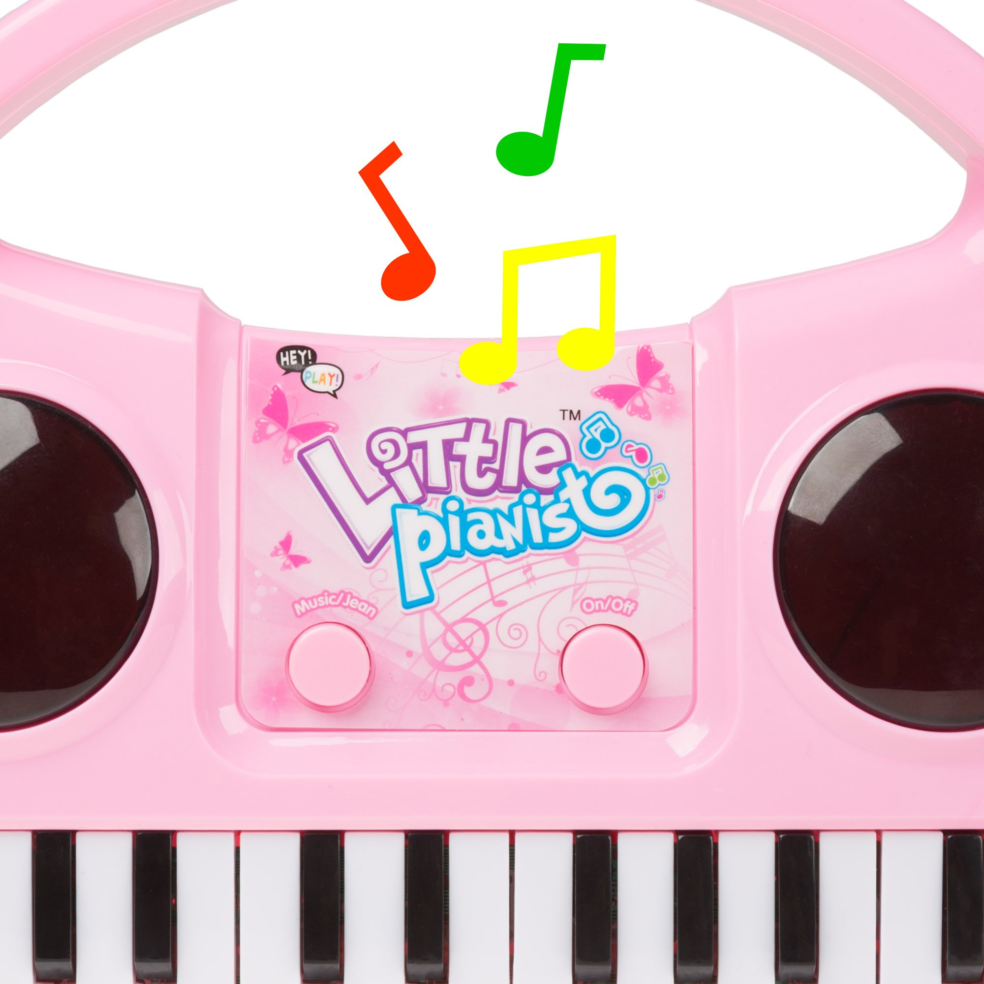 Kids Karaoke Machine with Microphone, Includes Musical Keyboard & Lights - Battery Operated Portable Singing Machine for Boys and Girls by Hey! Play! by Hey!Play! (Image #2)