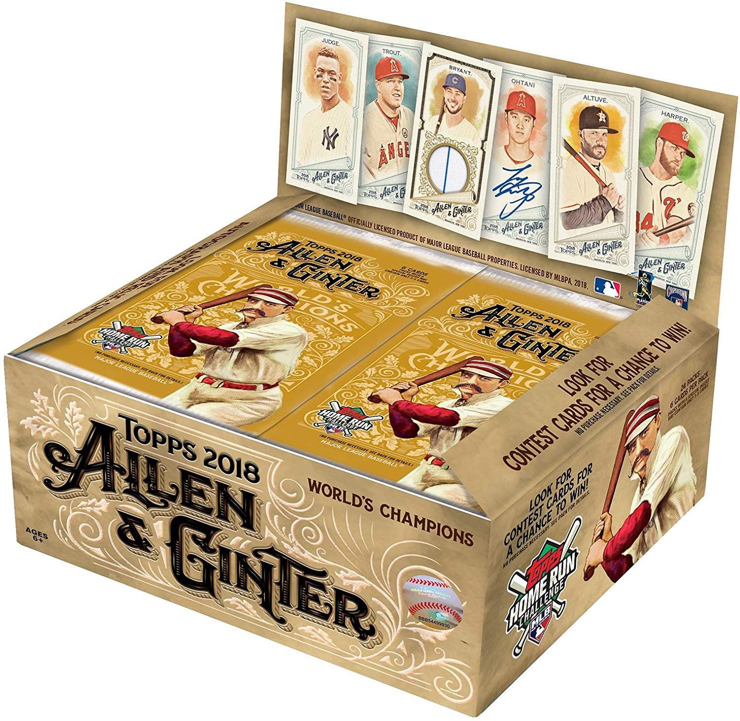 Topps 2018 Allen & Ginter Baseball Retail Display Box