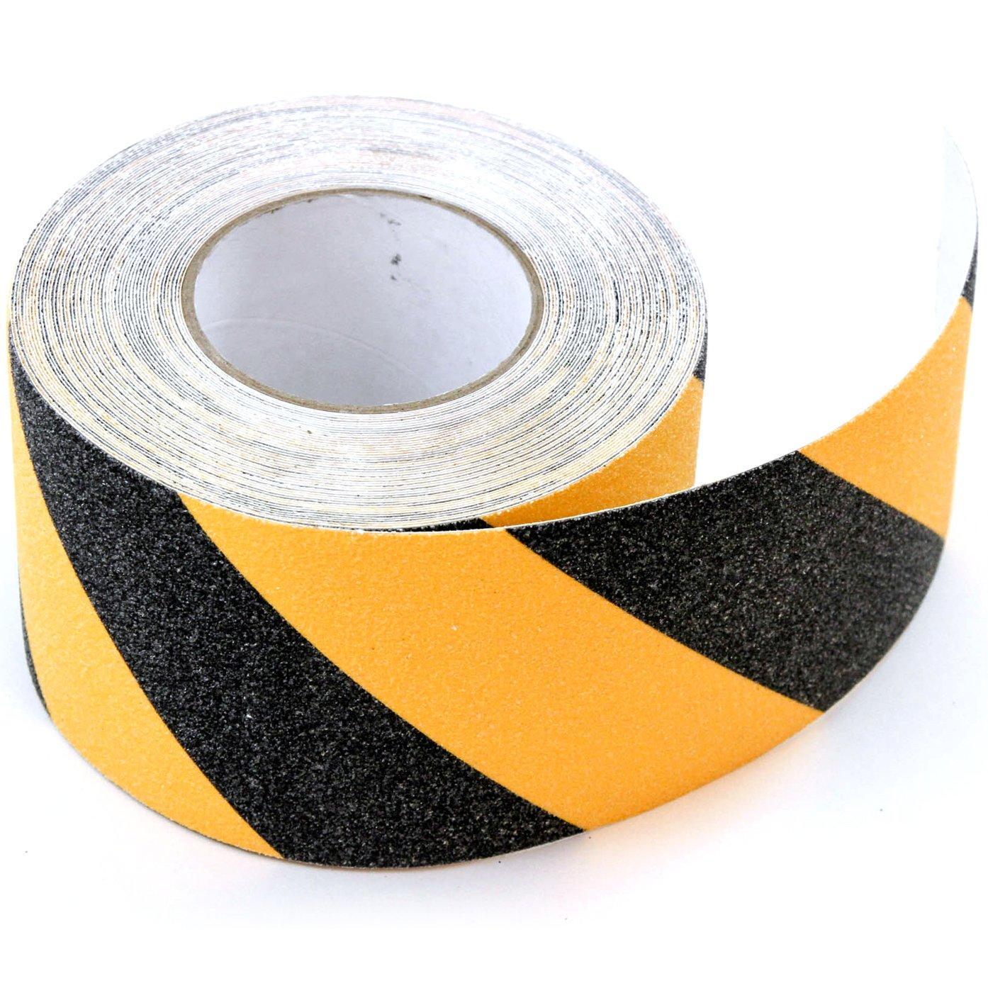 Red Hound Auto 4' x 60' Safety Non-Skid Anti-Slip Grit Grip Tape Black Yellow