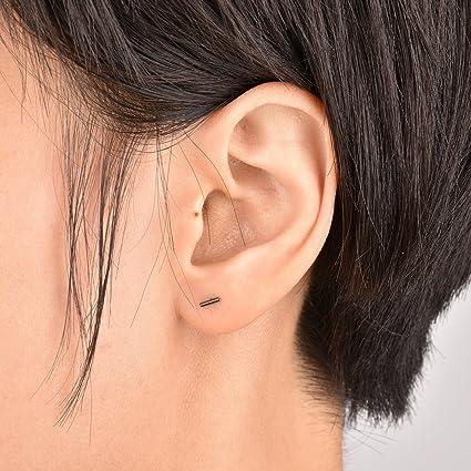 Sterling Silver Mini Bar Earrings  Handmade  Artisan Made  Indie  Minimalist Jewelry