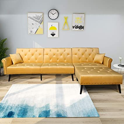 Amazon.com: Décor Hut Sofa Bed Set Modern Style Living Room ...