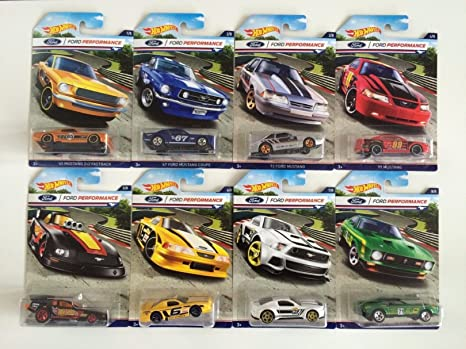 Buy 2016 Hot Wheels Ford Performance Series Of 8 Mustang Cars