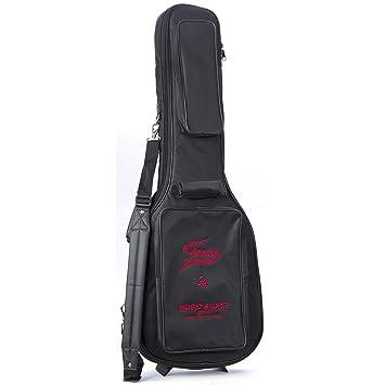Funda para guitarra eléctrica Super Deluxe Logo Negro/Rojo: Amazon.es: Instrumentos musicales