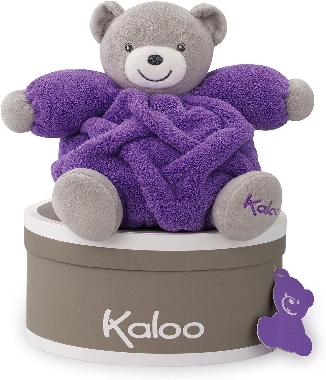 Kaloo - Colección Neón, Osito de Peluche, 18 cm, Color Violeta Fluorescente (Juratoys K962321)