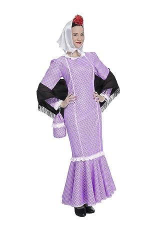 Disfraz de Madrileña Morada Adulta (Talla M/L): Amazon.es ...