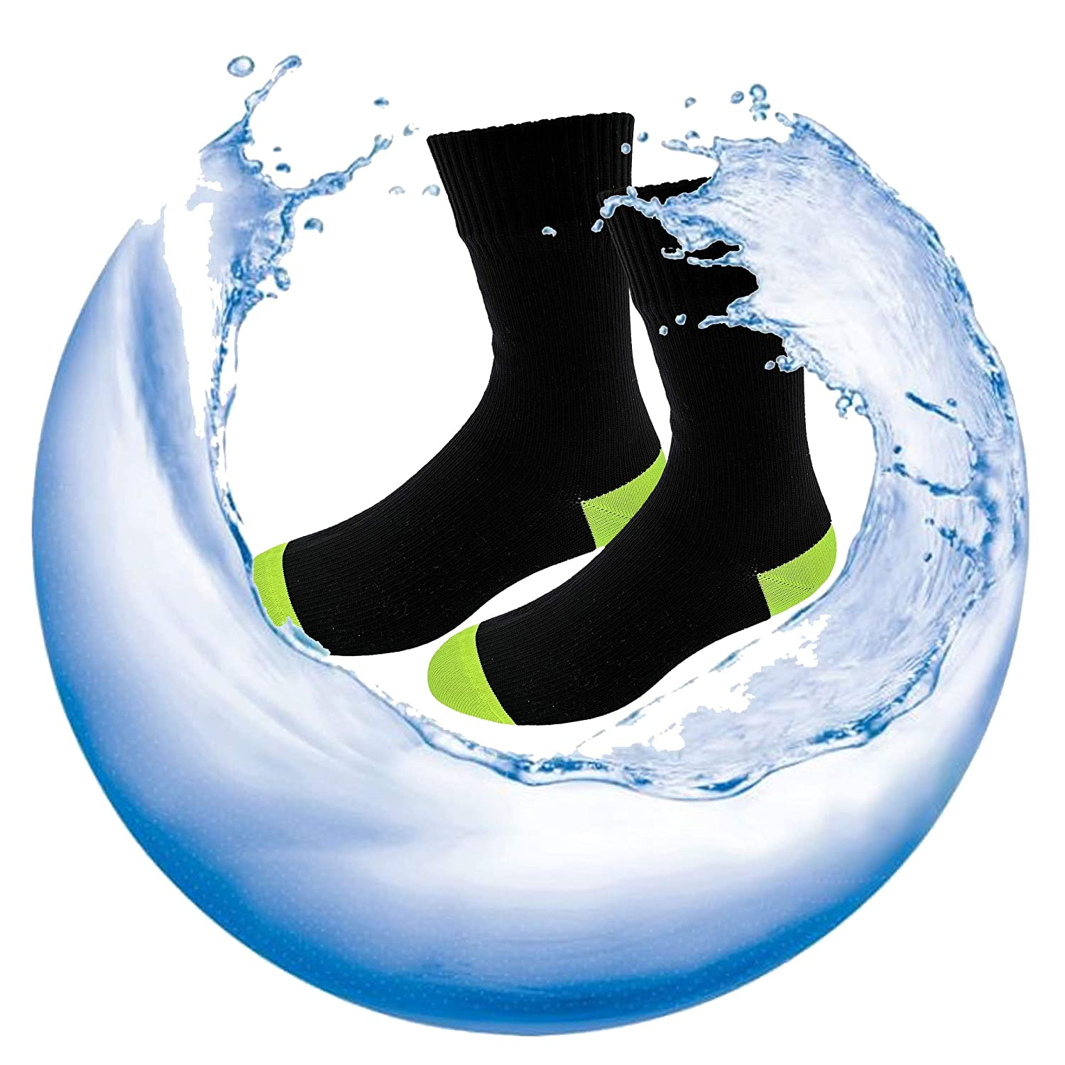 HIGHCAMP SGS Certified Best Valued Waterproof Socks for Men /& Women- Coolmax//Copper Cushion Crew Cycling, Running, Hiking Boots Socks