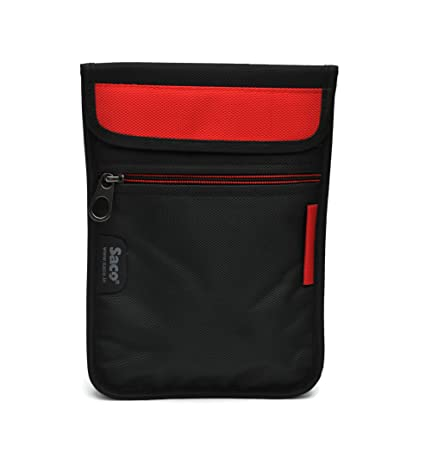 Saco Durable Pouch Soft Sleeve Carrying Bag Case with Shoulder Strap Zipper for Samsung Galaxy Tab A SM T355YZAA Tablet 8 inch   Red Touch Screen Tabl