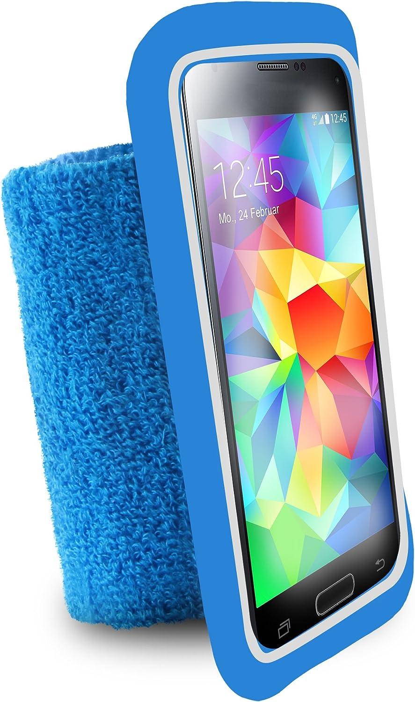 Puro UNIRUNLBLUE Brassard de poignet universel pour Smartphone jusqu/à 4.3 pouces Bleu