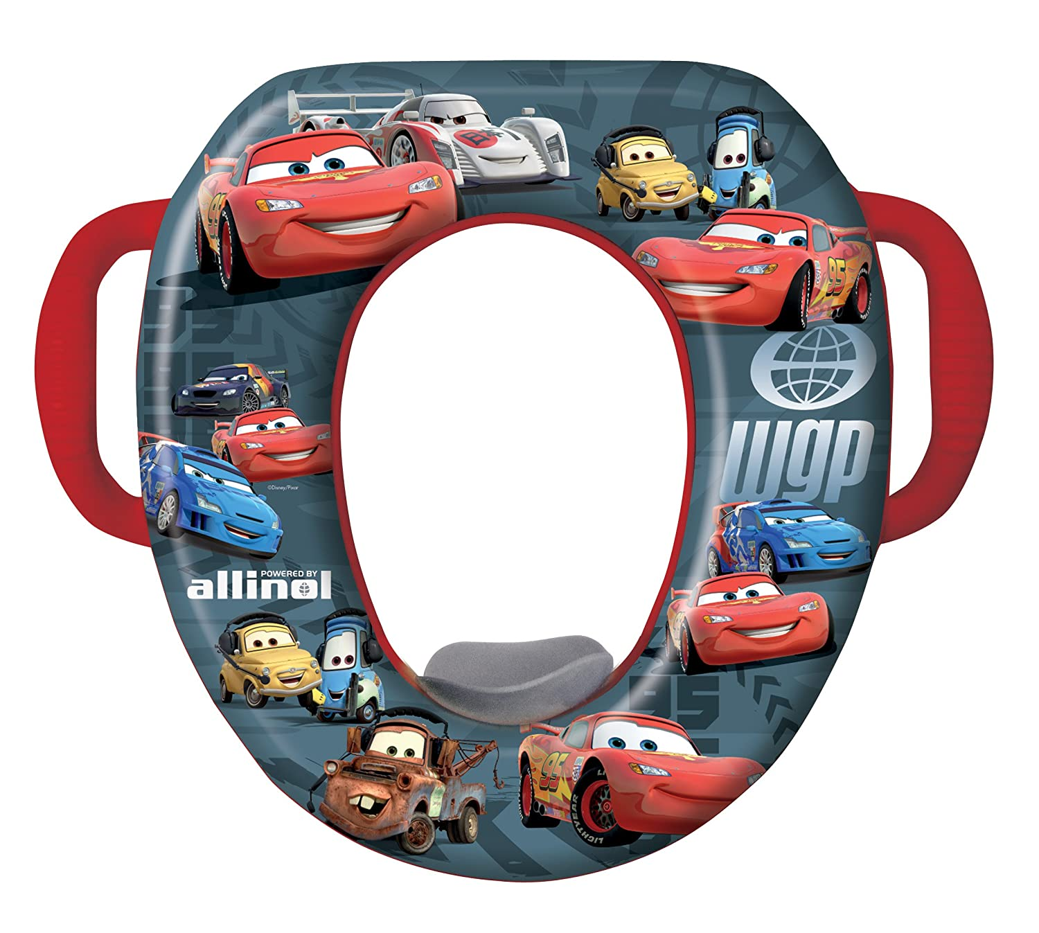 check out 6c51a 8230a Amazon.com  Disney Cars Soft Potty Seat - BlackRed (Discontinued by  Manufacturer)  Toilet Training Seats  Baby