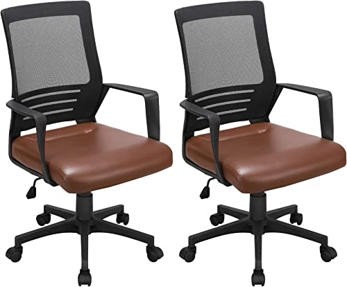YAHEETECH 2 Pack Mesh Office Chair