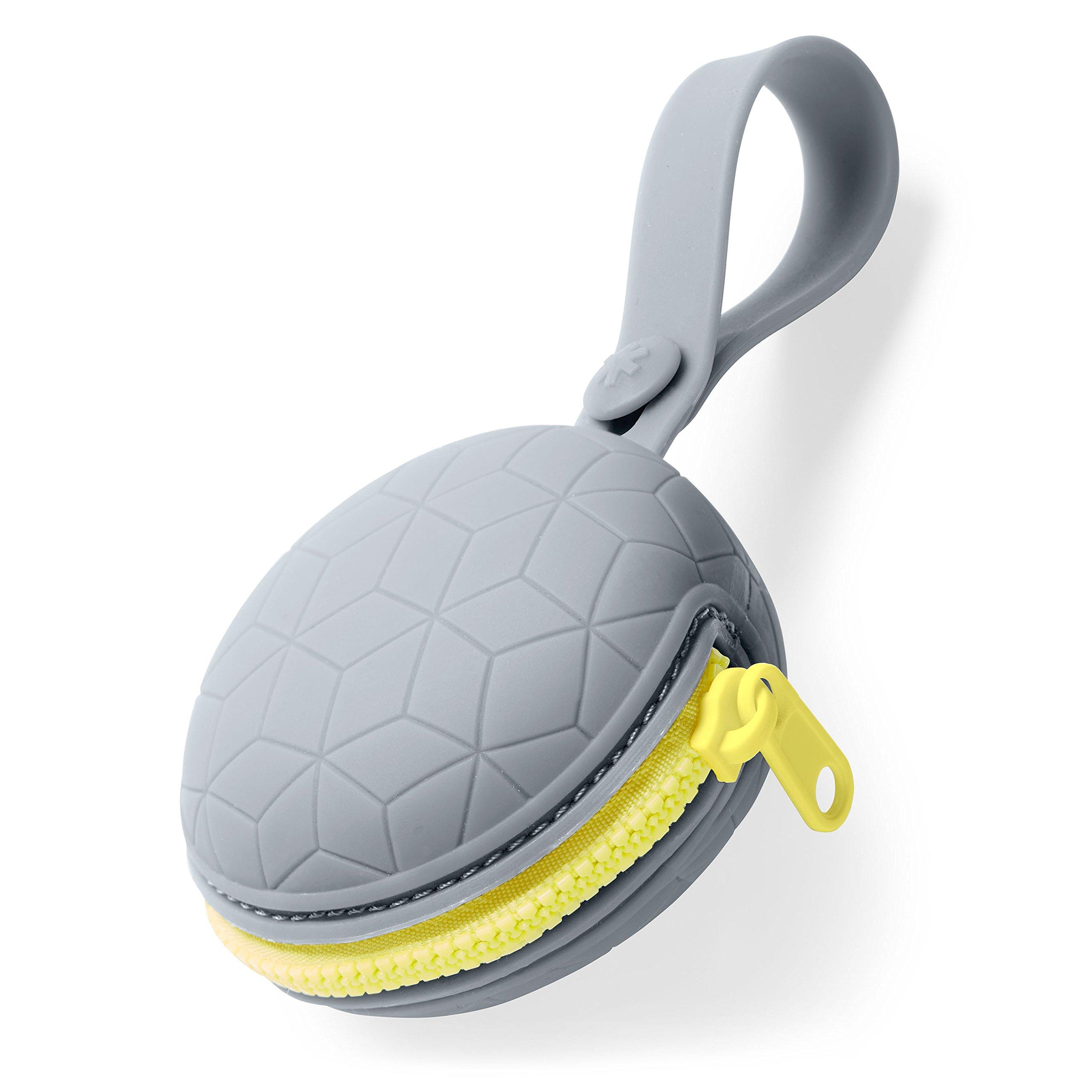 Skip Hop Paci Holder: Dishwasher-Safe Silicone Pacifier Pocket, Grey