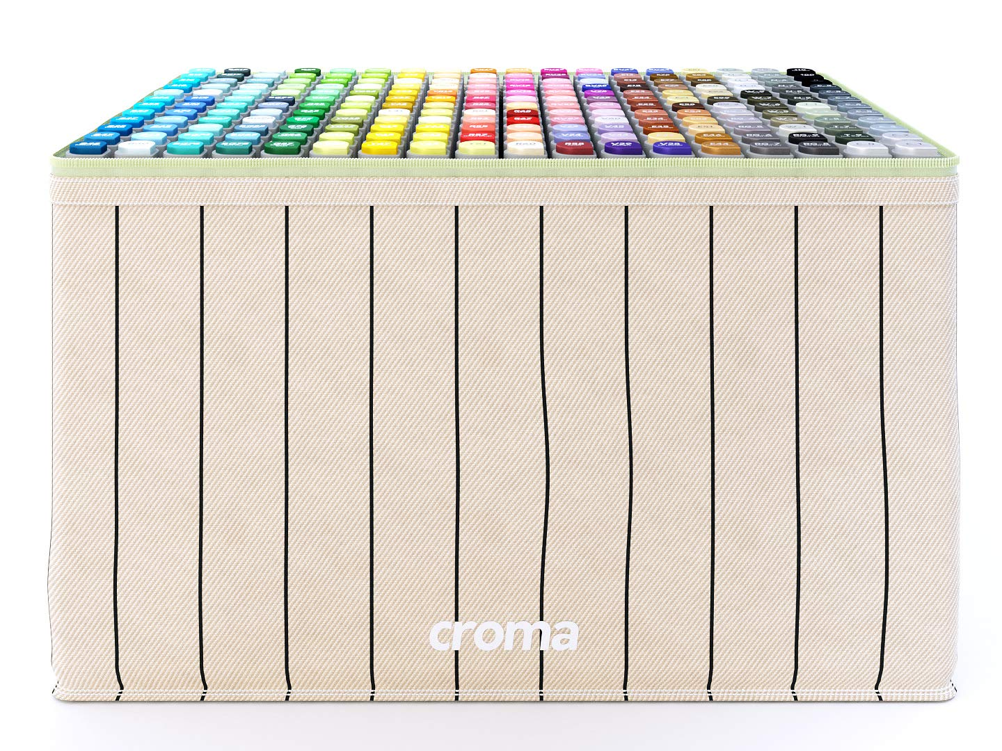 Croma Lite Brush Dual Tip Alcohol Based Sketch Markers, 216 Full Set, for Coloring Manga, Comic, Illustrations, Art, Industrial Design, Professional Artists, with Cotton Canvas Bag by Croma