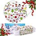 50-Pack Sudilo Kids Disposable Christmas Face Masks (White)