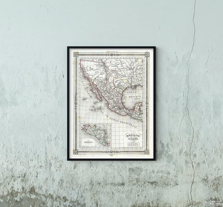 Amazon Com 1846 Duvotenay Of Mexico W Republic Of Texas Map