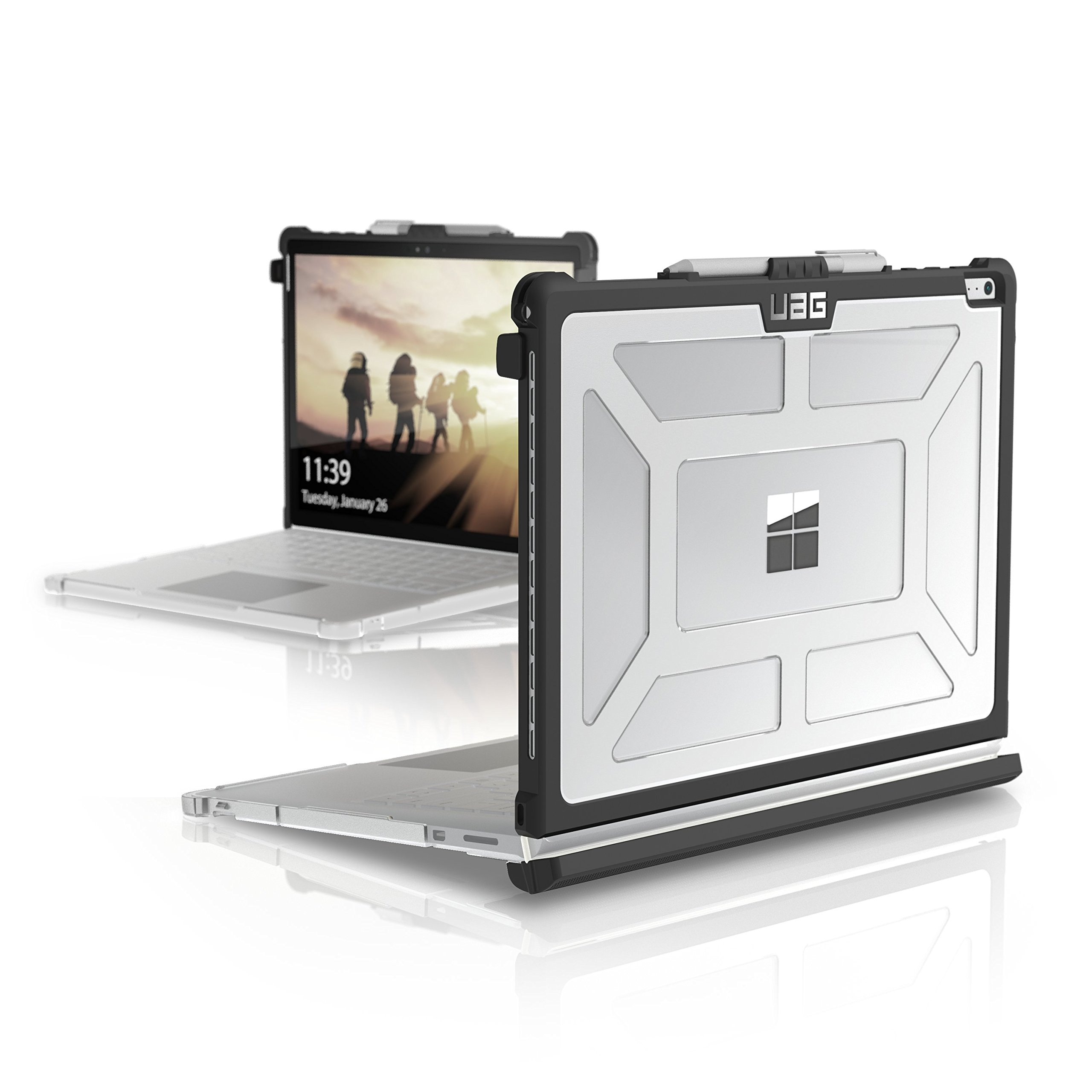 UAG Surface Book 2 [13.5-inch Screen]/Surface Book/Surface Book with Performance Base Feather-Light Rugged [Ice] Military Drop Tested Laptop Case by URBAN ARMOR GEAR (Image #1)