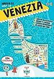 Mappa di Venezia illustrata. Con adesivi. Ediz. italiana e inglese