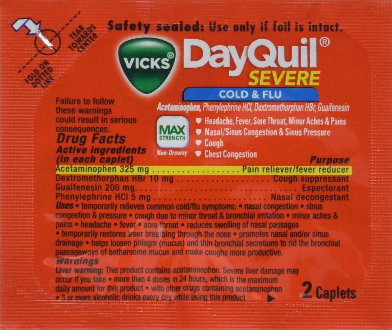 "DayQuil""Severe"" Cold and FLU MAX Strength New"