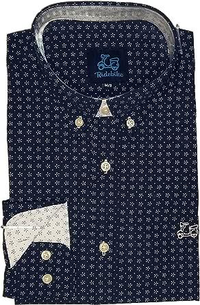 Ridebike New!! Camisa Azul Marino con Estrellas Blancas ...