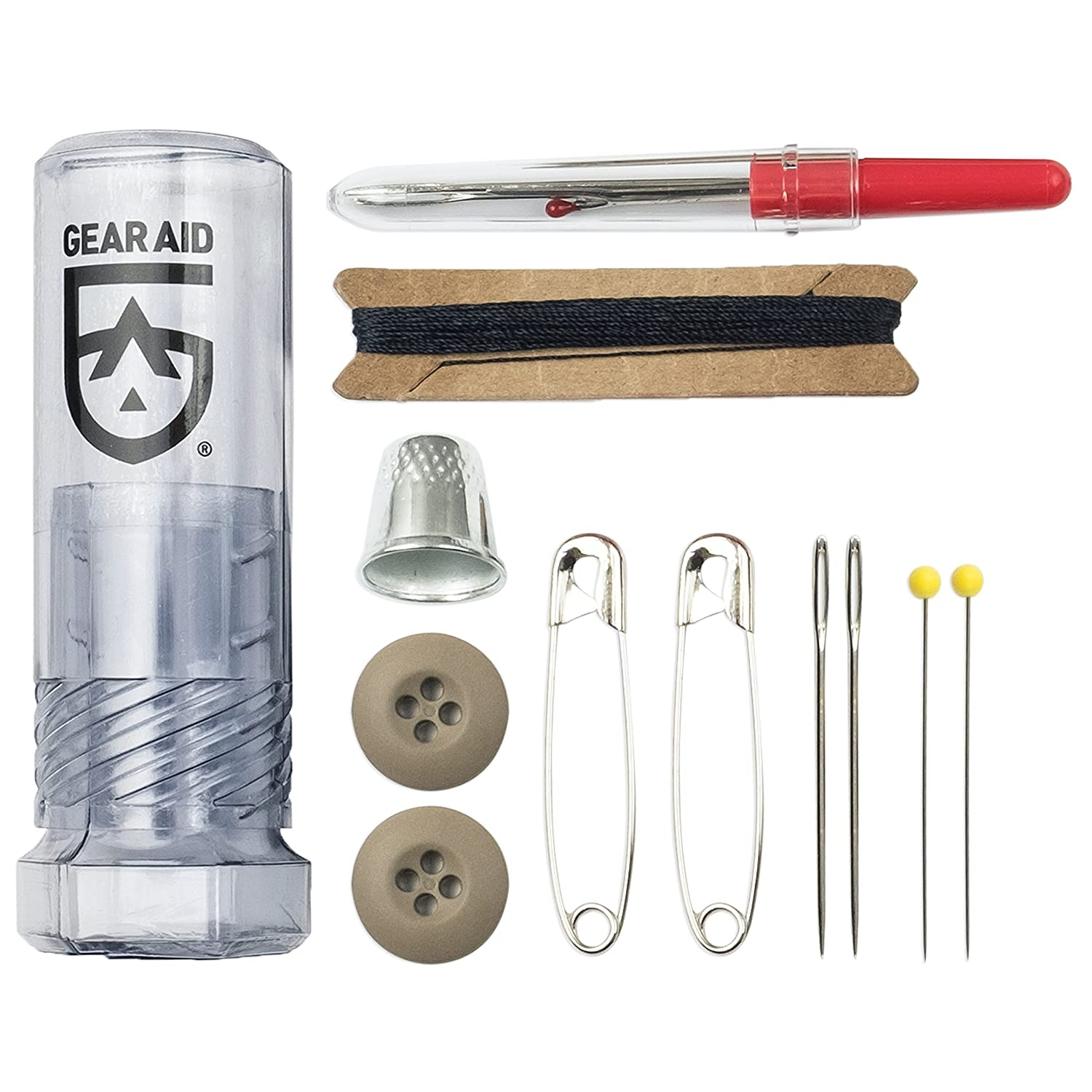 Gear Aid McNett Sewing Kit Safety Pins Buttons and Seam Ripper Dreme Corp MCN80051-BRK