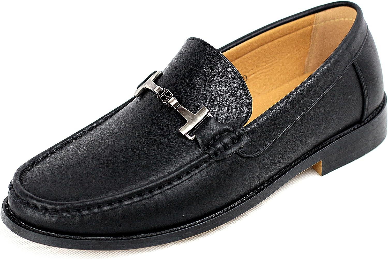 Hombre Conducción Zapatos Sin Cierres Mocasines Casuales Inteligentes Mocasín De Cuero