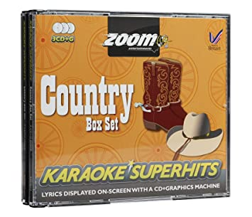 Zoom Karaoke CD+G - Country Superhits - Triple CD+G Karaoke Pack ... 41bf6e1620fd