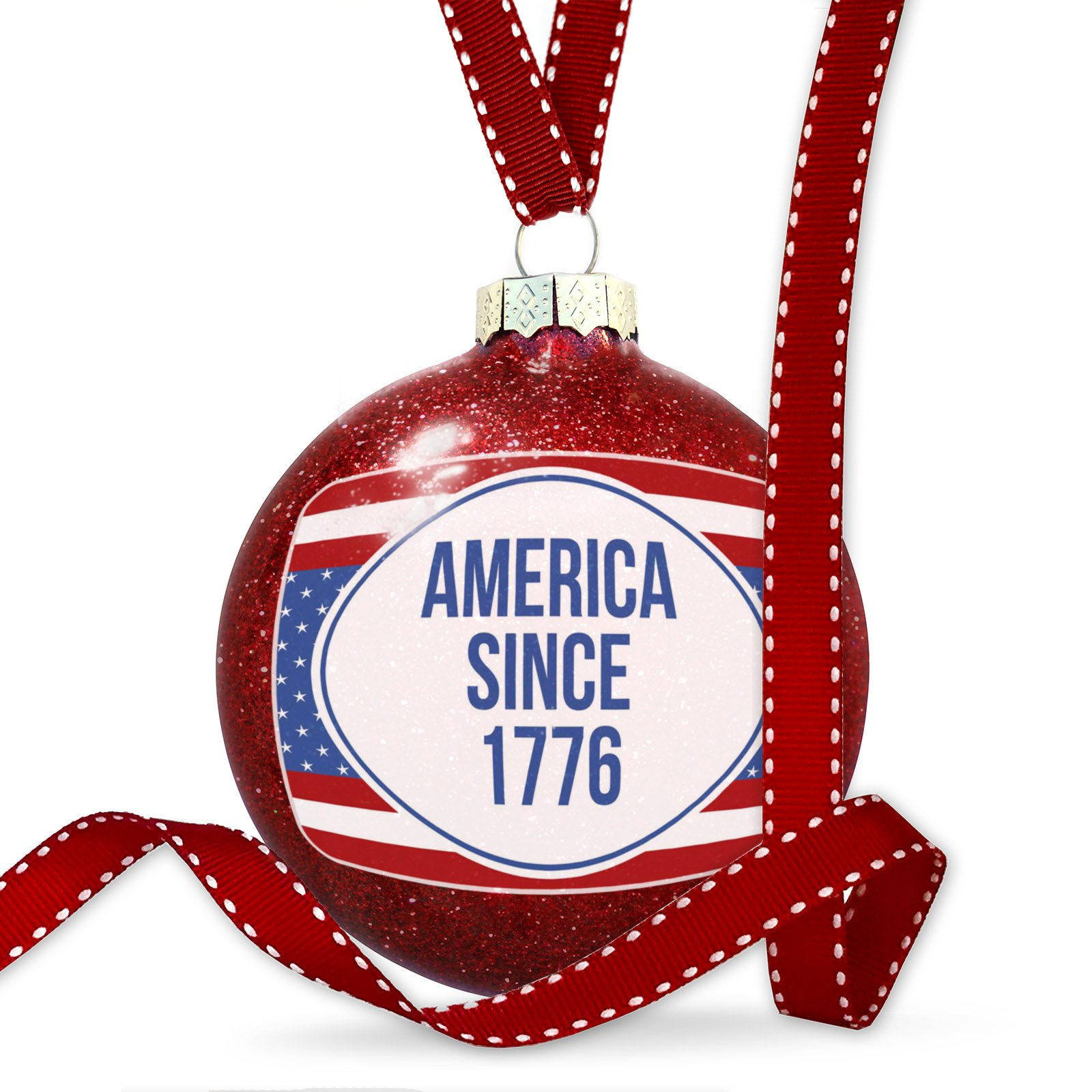 Christmas Decoration America Since 1776 Fourth of July Red, White, And Blue Ornament