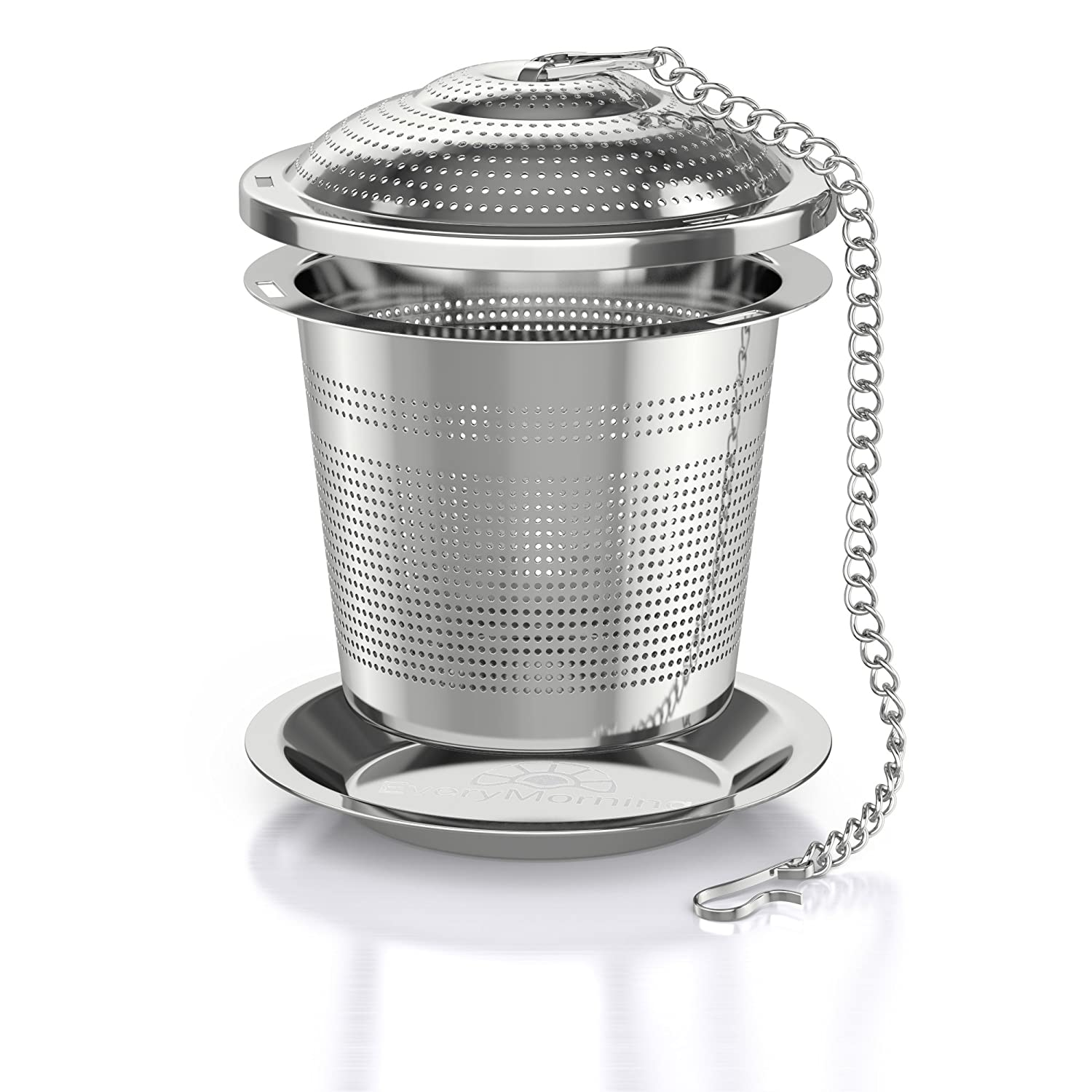 Deluxe Tea Infuser for Loose Leaf Tea Single or Multi Cup Stainless Steel Strainer