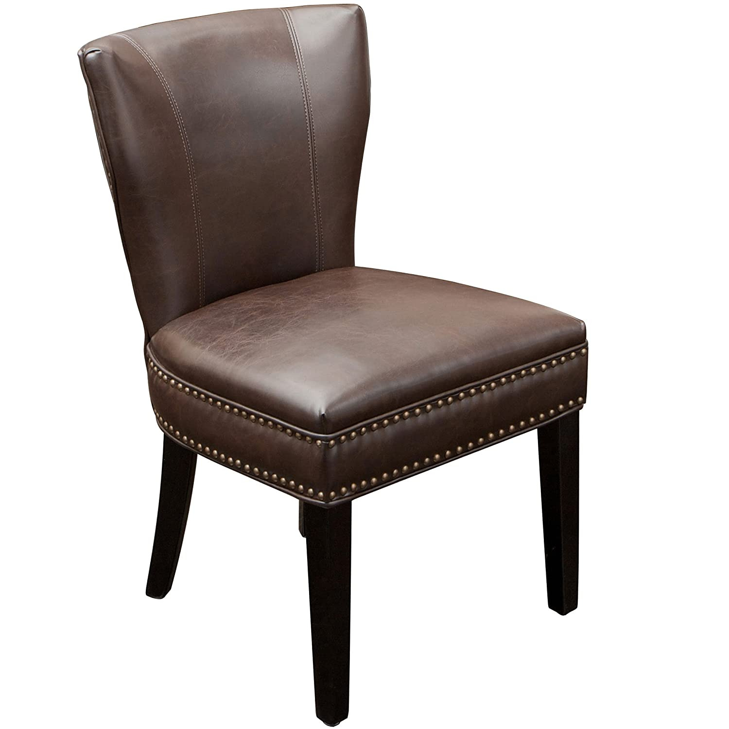 George Brown Leather Dining Chair