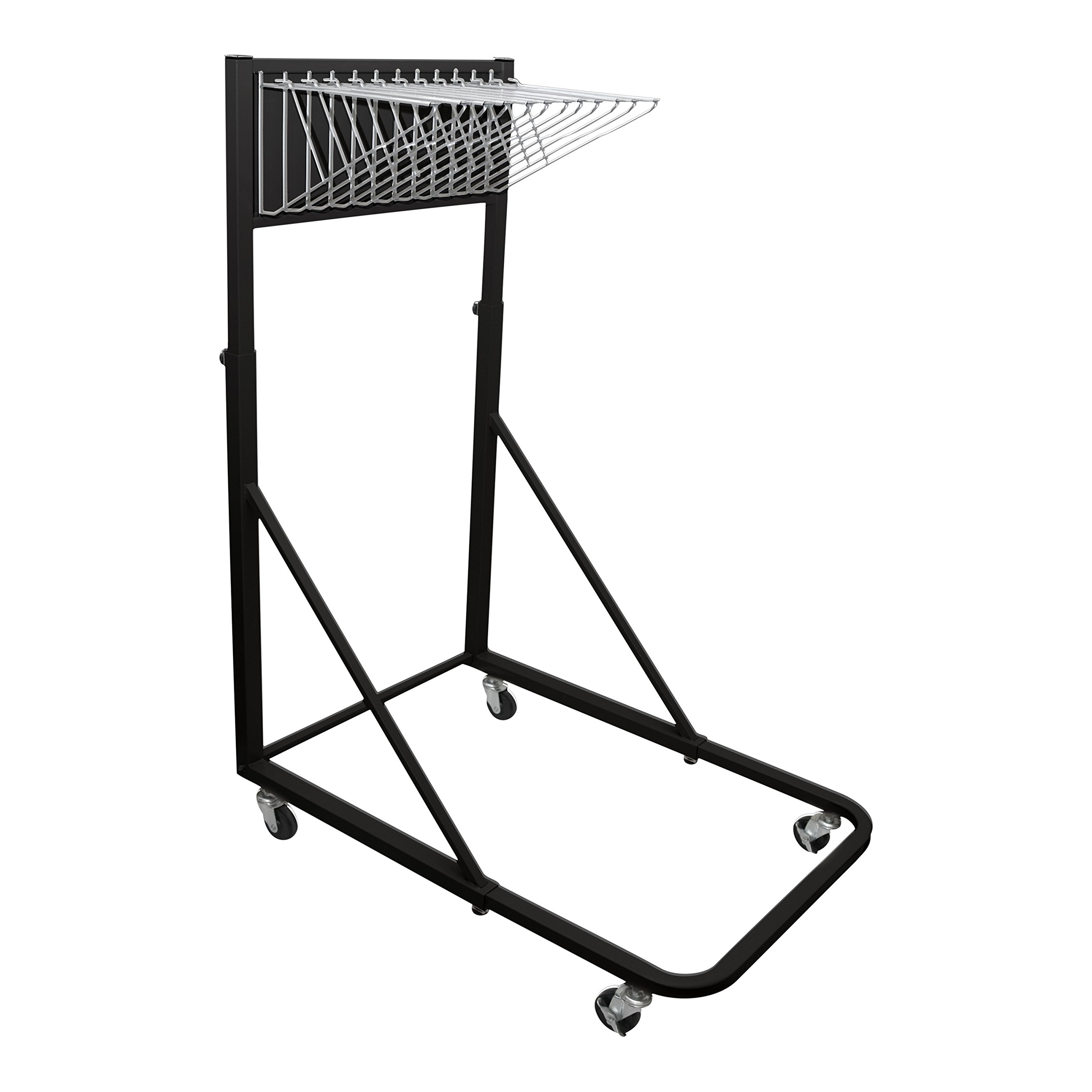 Adir Corp. Vertical File Rolling Stand for Blueprints - Black