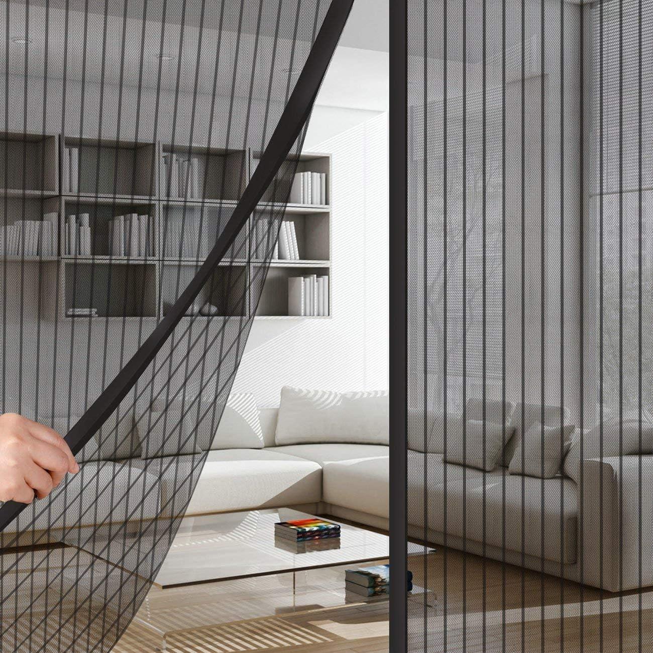 Cortinas mosquiteras para Puertas 70x200cm, Mosquitera Puertas, Protección contra Insectos, Cortina Ultrafina, para Pasillos/Puertas - Negro: Amazon.es: Hogar