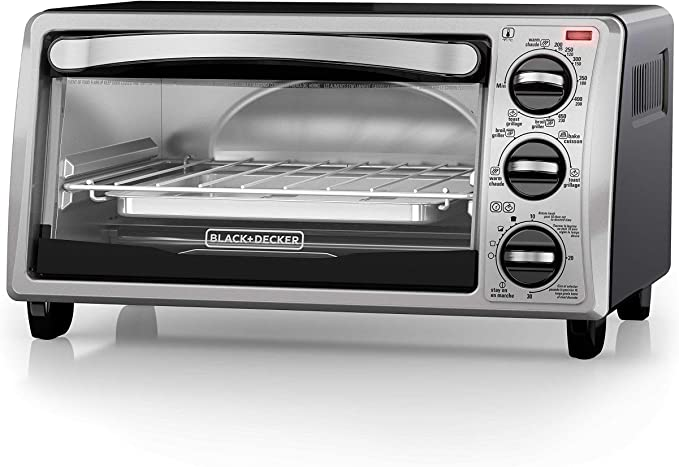 Black+Decker TO1313SBD Toaster Oven, 15.47 Inch, Silver   Amazon