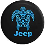 Water - Jeep Sea Turtle Diving Beach Marine Life Spare Tire Cover OEM Vinyl Black 32-33 in