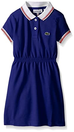 8dd0aac437b8 Amazon.com  Lacoste Little Girls  Short Sleeve Vintage Tipped Polo ...