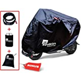 Moped Scooter Storage Cover Use on Small Motorcycle Outdoor Waterproof, with FREE Lock, Must Have Bike Accessories, Best Quality, Large Bag for Road, Mountain, Dirt bike 50cc, Motor scooters
