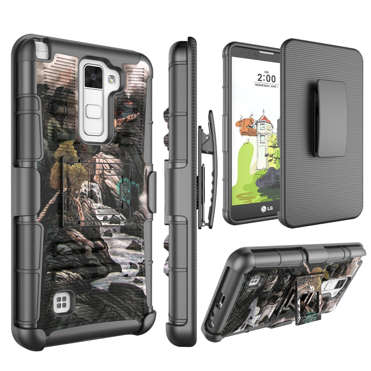 save off a3789 ac995 LG Stylus 2 Case, LG Stylo 2 V Case, Jeylly [Belt Clip] Full Body Dual  Layer Rugged Holster Armor Case Cover with Kickstand & Belt Swivel Clip for  LG ...