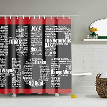 Amazon.com: WANL Hip Hop In Black Shower Curtain Bath Decorations Bathroom  Decor: Home U0026 Kitchen