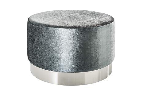 Dunord sgabello da salotto cm in velluto colore grigio