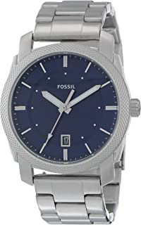 809200b6ab0d Amazon.com  Fossil Men s Grant Quartz Stainless Steel and Leather ...
