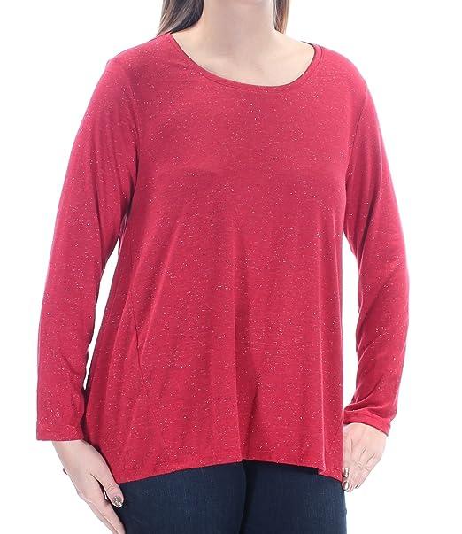668c0770335 Amazon.com  Style   Company 29 Womens New 1208 Red Metallic Long ...