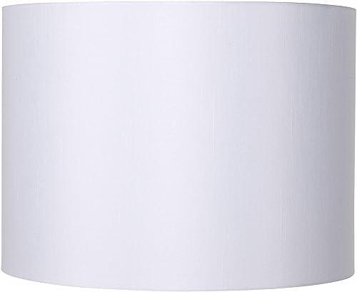 White Hardback Drum Lamp Shade 16x16x12 Spider – Brentwood