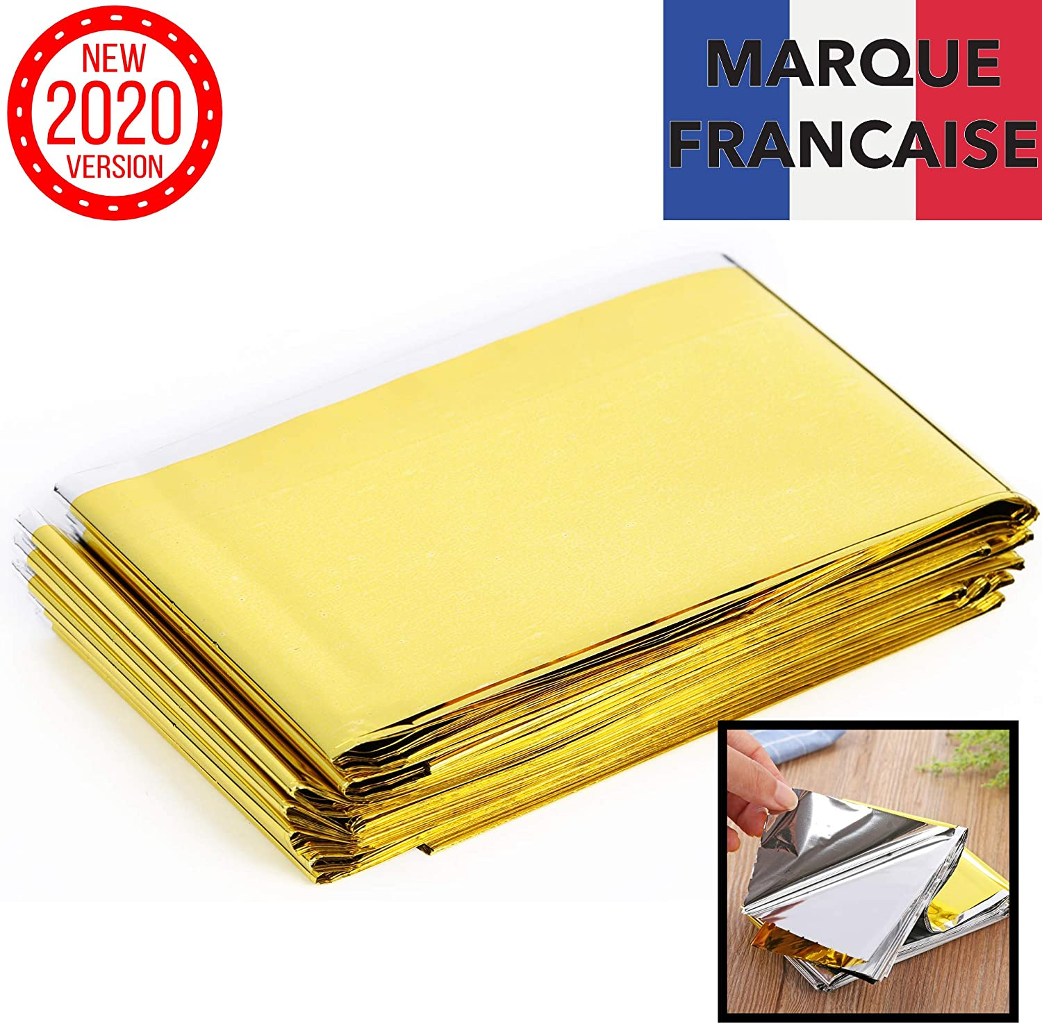 Takit Emergency Blanket Waterproof Gold /& Grey First Aid Hiking Mylar Survival Foil Blanket Warming for Camping Extra Large Reusable 210x160CM