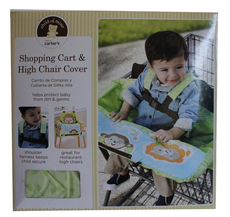 Niño de Carter de Minas de carrito de la compra y alta silla ...