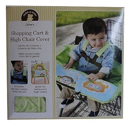 Niño de Carter de Minas de carrito de la compra y alta silla cubierta