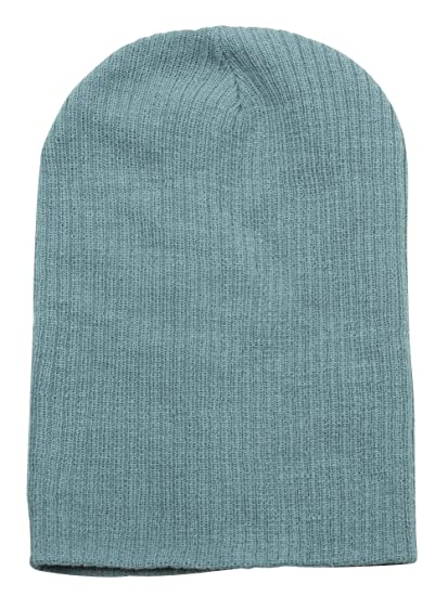 f7f80694565 Image Unavailable. Image not available for. Color  Long Slouchy Ribbed  Beanie - Pastel Teal