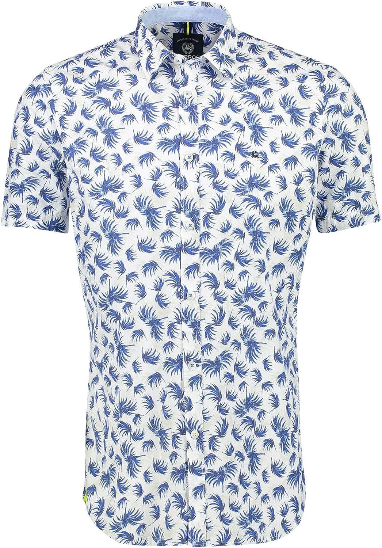 LERROS 2042089 Cornflower - Camisa de manga corta para hombre: Amazon.es: Ropa y accesorios