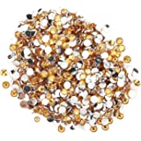 Round Beads for Jewelry Making -- Flat Back Clear Crystal Rhinestones (3 mm) Wholesale Bulk -- Yazycraft