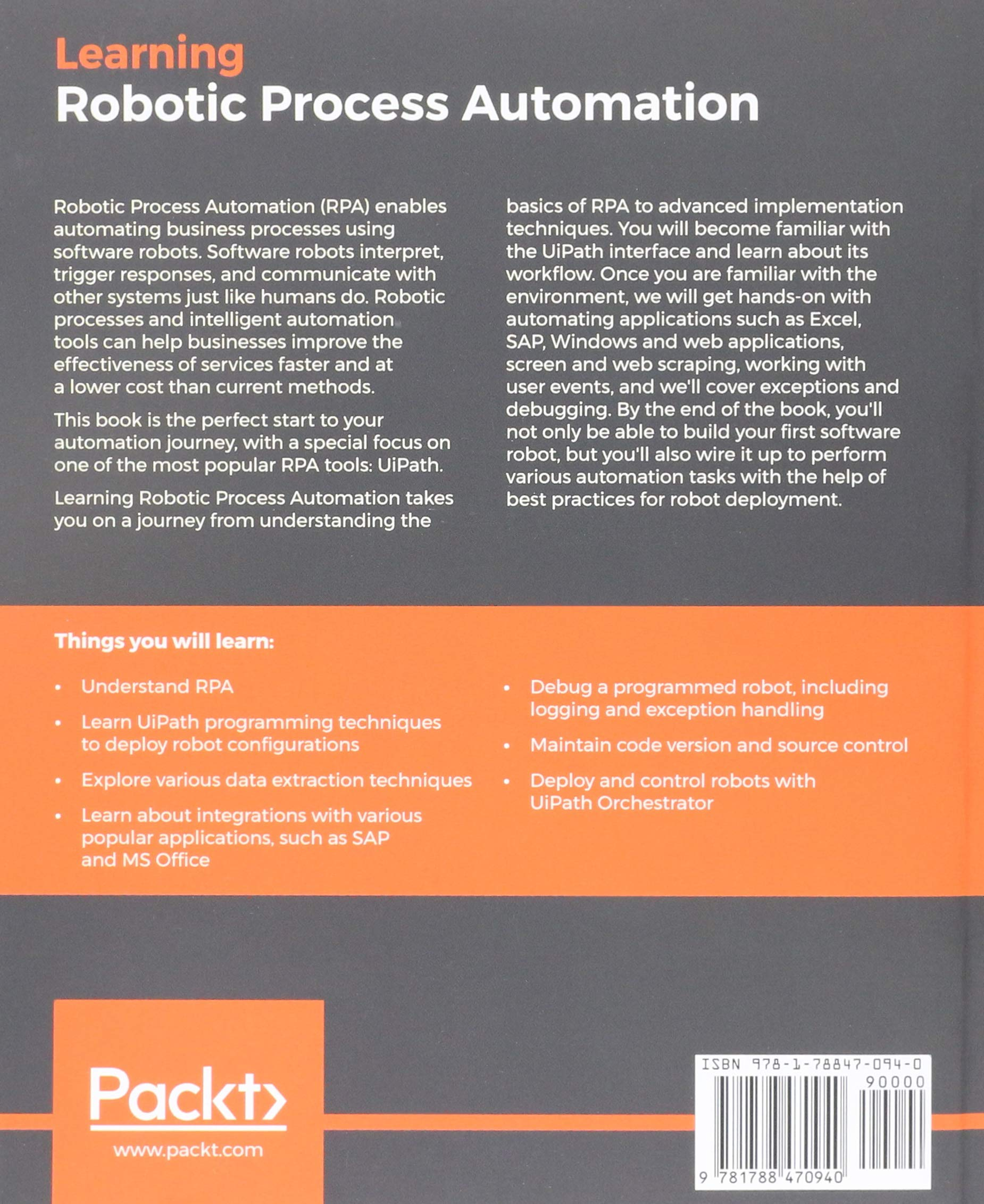 Buy Learning Robotic Process Automation Book Online at Low Prices in