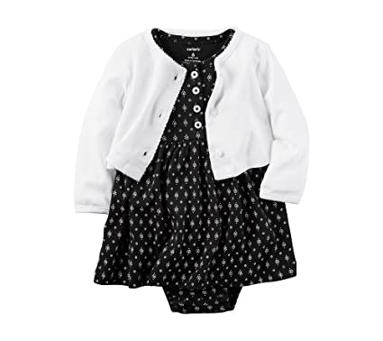4c03b6feb9 Amazon.com  Carter s Baby Girls  2-Piece Geo Dress And Cardigan Set   Clothing