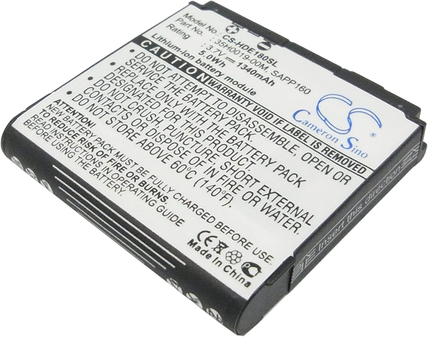 XSP 1340mAh Replacement Battery for T-Mobile Dash 3G G1 Touch MyTouch 3G VODAFONE G2 DOPOD A6188 Part NO 35H0019-00M, BA S350, SAPP160 Parts Battery Batteries